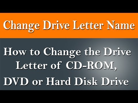 How to change drive letter name in windows.