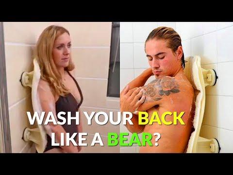 Luffoliate: Shower Back Scrubber - Wash Your Back Like a Bear