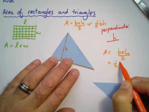 8:4:3:b:Notes:Area of rectangle and triangle