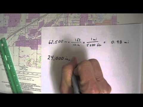 Converting Fractional Scale to Verbal Scale: Grandville, MI Quadrangle