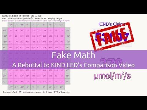 Fake Math |  A Rebuttal to KIND LED's Comparison Video