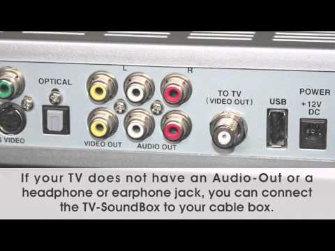 Connecting the TV Soundbox® to the Cable Box »