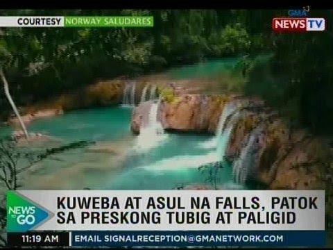 NTG: Kuweba at asul na falls, patok sa preskong tubig at paligid