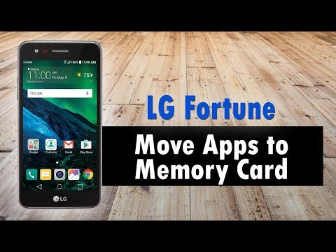LG Fortune How to Move Apps to Memory Card