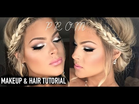Prom Makeup and Hair tutorial!  Easy and pretty | Valerie Pac