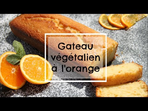 Gâteau Végétalien à l'orange     Facile à faire
