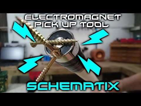 How To: Make an ELECTROMAGNET pick up tool!