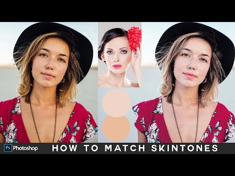 How to Match Skin Tones in Photoshop - Matching Skin Color Between Photos Tutorial