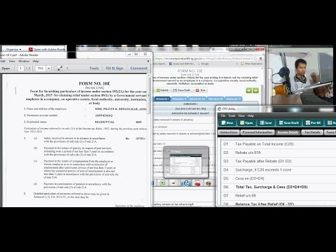 HOW TO FILL FORM 10 E FOR CLAIMING TAX RELIEF FOR SALARY ARREARS i RELIEF UNDER SECTION 89