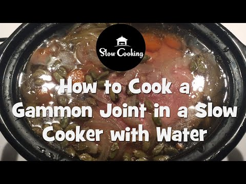 The Most Delicious Slow Cooker Gammon Joint we've ever cooked