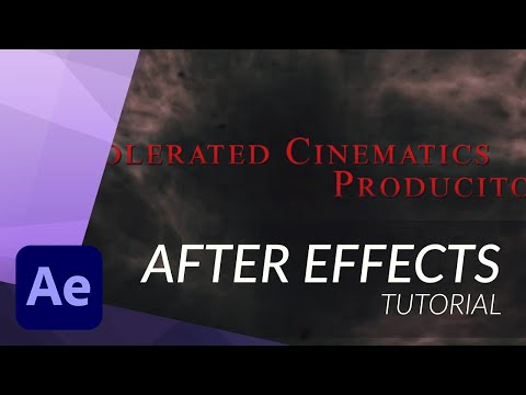 How to Create a Horror Film Title in After Effects - TUTORIAL