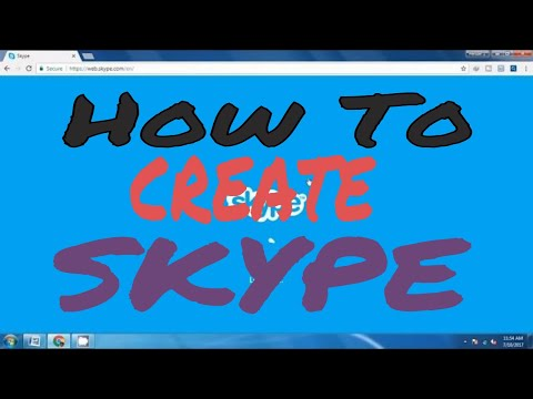 How to create skype account on desktop