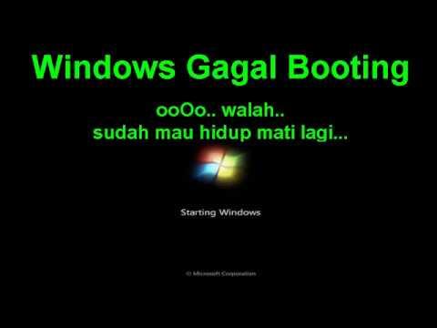 Cara mudah mengatasi laptop yang mengalami Windows 7 gagal booting