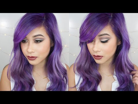 How to Strip Hair Color, Touch Up Roots, Dye Your Hair Purple & Hair Care!!!