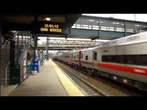 Metro North M8s on Train #6531 in Rye