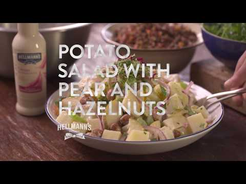 Potato Salad with Pears and Hazelnuts