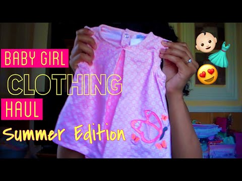 Baby Girl Clothing Haul! Summer Edition| Teen Mom on a Budget