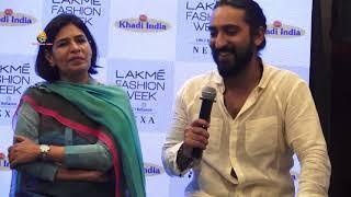 Sumit Vyas walks for Khadi India at Lakme Fashion Week 2019