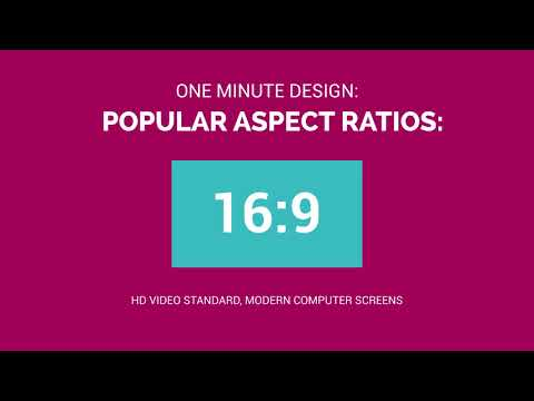 One Minute Design: What is Aspect Ratio?