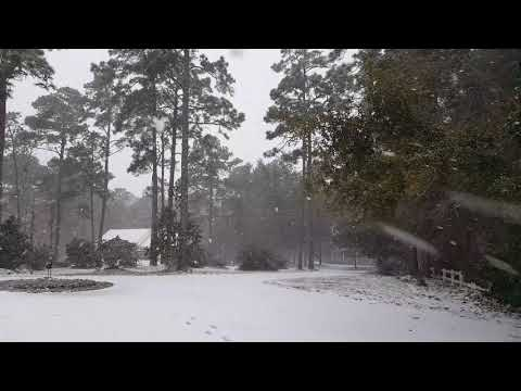 First Snow Of The Season In Myrtle Beach SC!!!  Winter Storm Grayson!