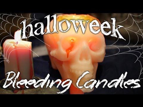 How to Make Bleeding Candles  ~Halloweek~