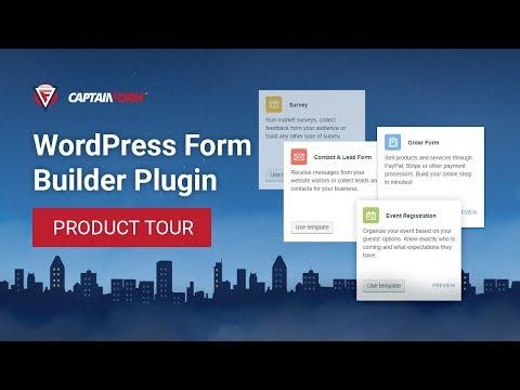 CaptainForm - Building Powerful WordPress Forms | Quick Tour