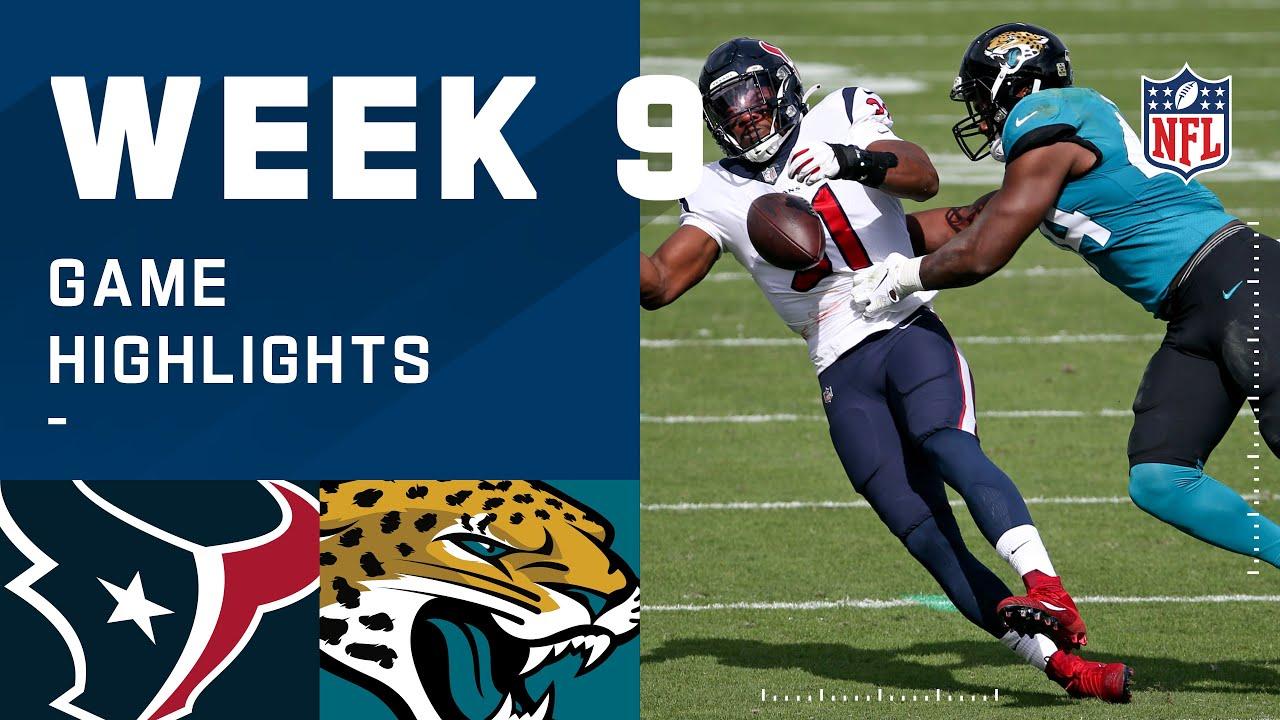 Texans vs. Jaguars Week 9 Highlights   NFL 2020