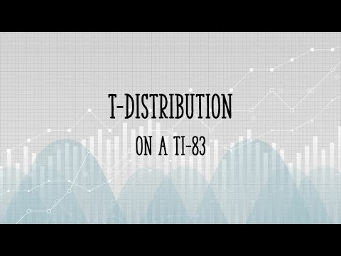 T Distribution on the TI 83