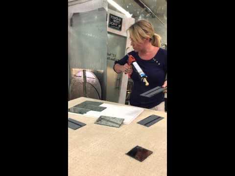 How to install antique mirror tiles for kitchen backsplash