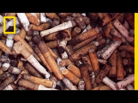Turning Cigarette Butts Into Park Benches | National Geographic