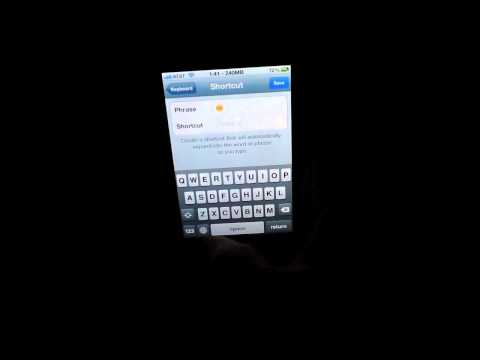 How to setup Emoji keyboard shorcuts for your iPhone in iOS 5