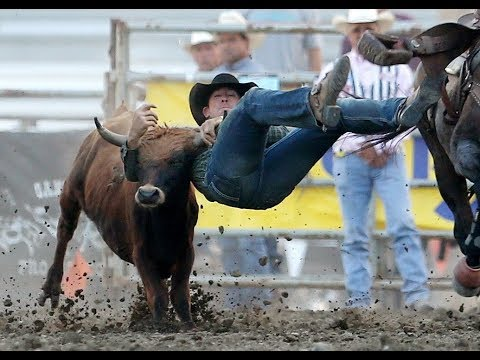 Cowboys wrestle, rope and ride at MontanaFair rodeo