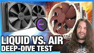Liquid Cooling vs. Air Cooling Benchmark In-Depth (NH-D15, NZXT X62, & More)