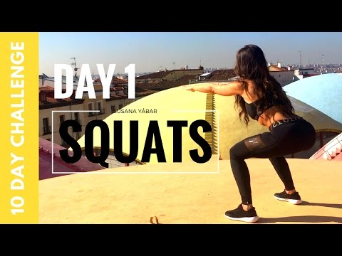 Butt Lift and Flat Abs Workout in 10 Days | Squat Challenge Day 1