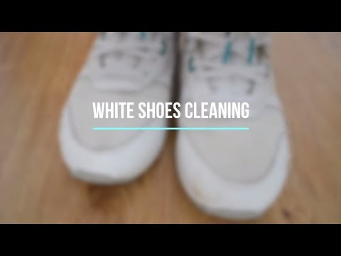 Fastest way to clean white shoes. Without washing machine/baking soda!