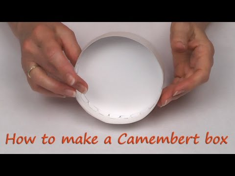 Make a round Camembert box from paper