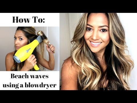 How to Get a Beach Wave Blow Out At Home