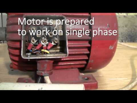 generator 230V from induction motor BASIC