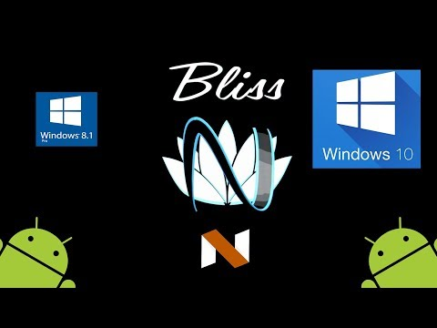 Install/Uninstall Android OS on Windows 8 & 10 (UEFI) (Easy) (BlissROM 7.1.2)
