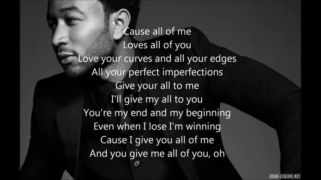John Legend - All of Me - Lyrics [ 1 Hour Loop - Sleep Song ]