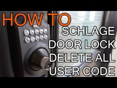 How to Delete All User Code On Schlage Door Lock