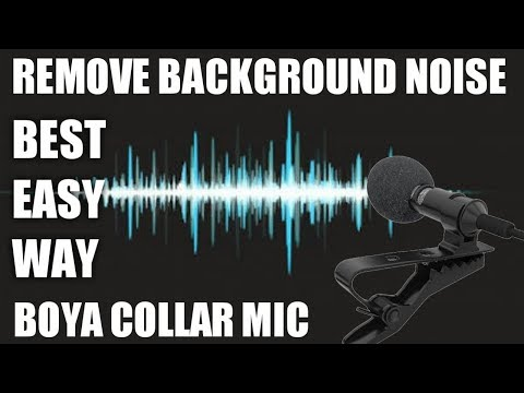 How To Remove Background Noise From Boya Mic   Very Easy Trick