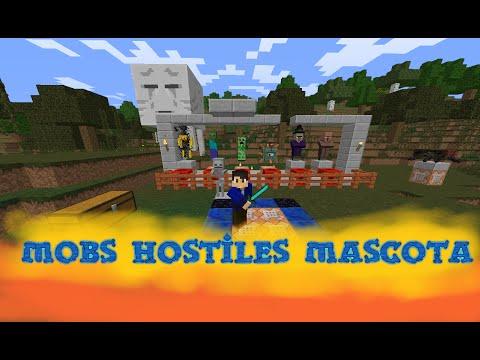 Mobs Hostiles Como Mascota!!! | Tutorial Comandos | 1.8