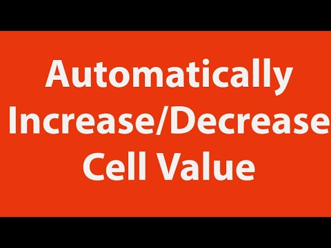 Increase or decrease cell value automatically using Excel VBA