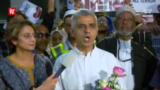 London Mayor praises the city's response on the Finsbury Park attack
