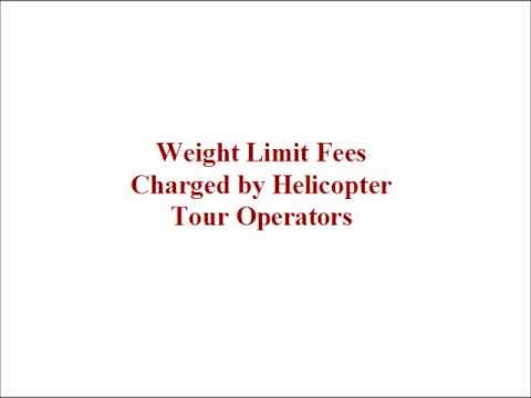 Weight Limit Fees For Grand Canyon Helicopter Tours