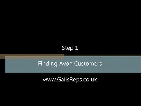 New To Avon Step 1 Finding Avon Customers