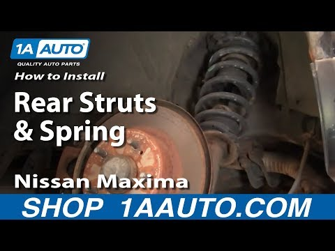 How To install Replace Rear Struts and Springs 2002-03 Nissan Maxima Infinit I30