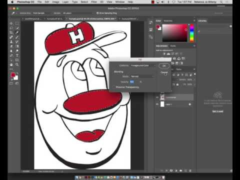 Colorizing drawings in Illustrator and Photoshop