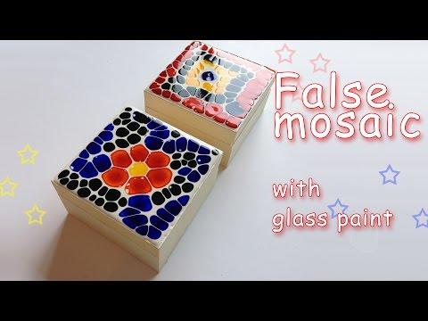 DIY Crafts - False mosaic with glass paint - Ana | DIY Crafts